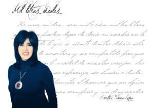 """Cristina Giménez López: """"Una letra más otra son lo que decimos y lo que somos""""."""
