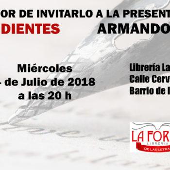 Poemas pendientes: Miercoles 4 de Julio de 2018. Librería La forja de las letras.